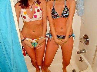 Amateur teen girlfriends in mini bikini