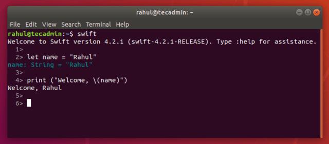 How to Install Swift on Ubuntu 18.04 LTS