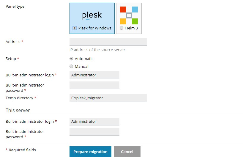 USING THE PLESK MIGRATOR EXTENSION 1
