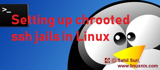 Setting up chrooted ssh jails in Linux
