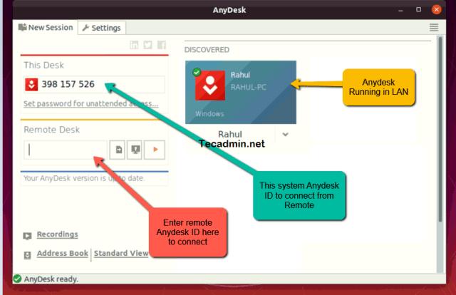 Running Anydesk on Ubuntu 20.04