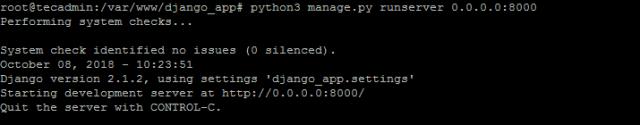 Running Django Application