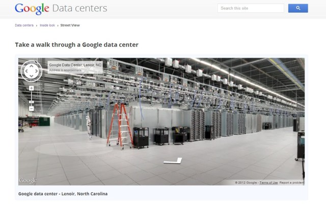 Google's Data Center Street View Tour