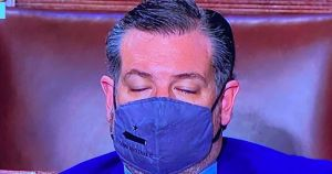 Texas Sen. Ted Cruz caught sleeping during Biden's address