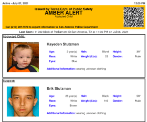 Texas Amber Alert issued for abducted 2-year-old boy