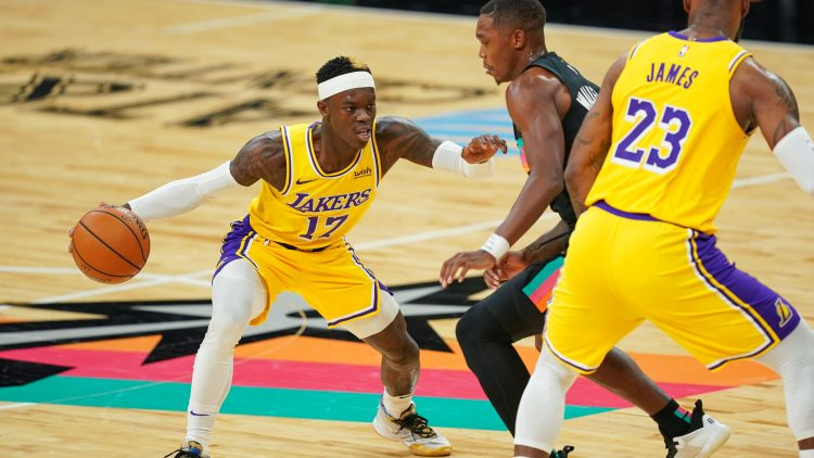 los angeles lakers trade dennis schroder to the san antonio spurs
