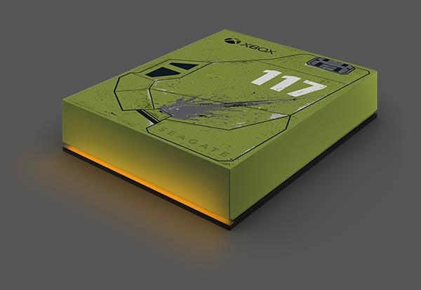 seagate game drive for xbox halo 5tb left orange led