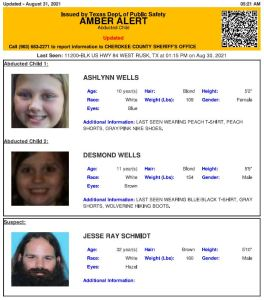 Amber Alert for 2 Texas children believed abducted by man