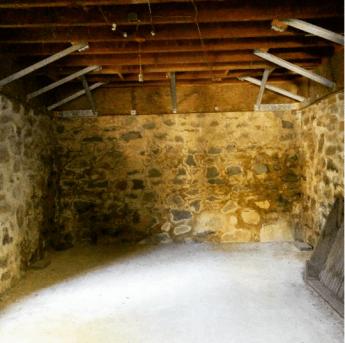 Inside the ice house.