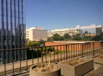 Patio view from the Peirera corporate HQ
