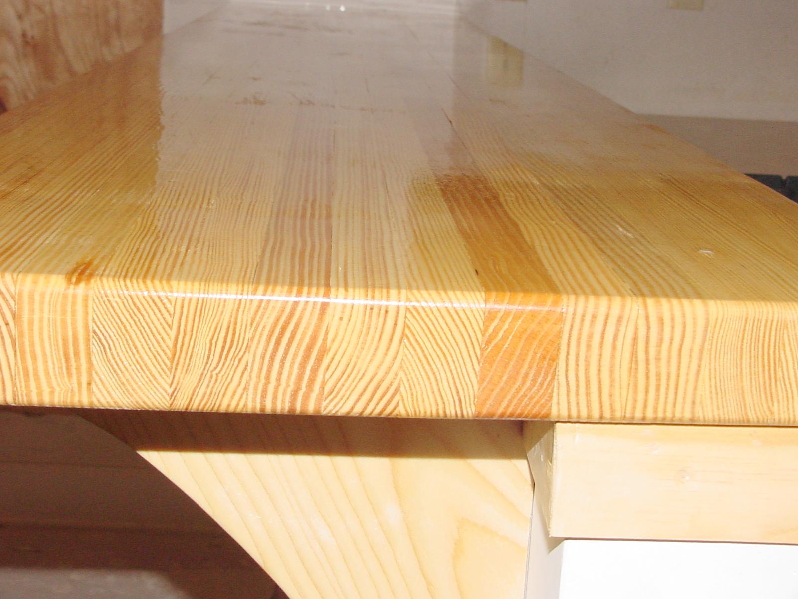 Pine Butcher Block Bar And New Windows  Robert S Shuping