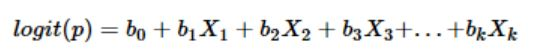 mathematical equation of logistic regression