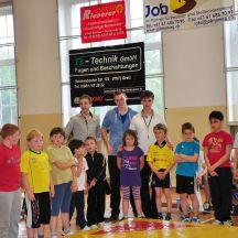 Kreisjugendspiele des Landkreises Greiz im Ringen eröffnet