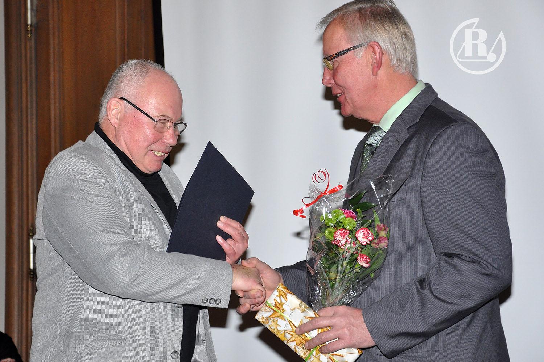 Auszeichnung für das Ehrenmitglied des RSV Rotation Greiz Hans-Peter Zipfel