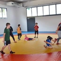Sommertour: Christian Tischner (CDU) besucht Greizer Zweifeldersporthalle
