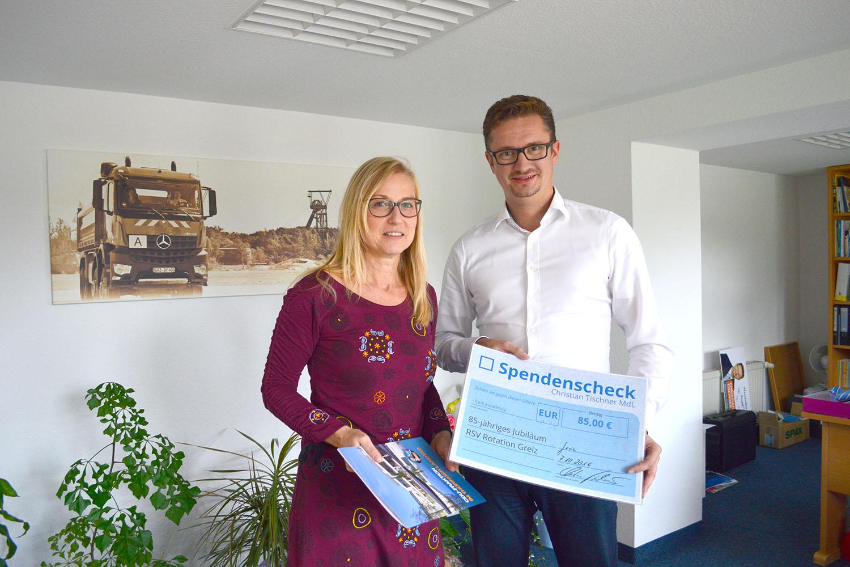 MdL Christian Tischner: Glückwünsche zum RSV-Jubiläum