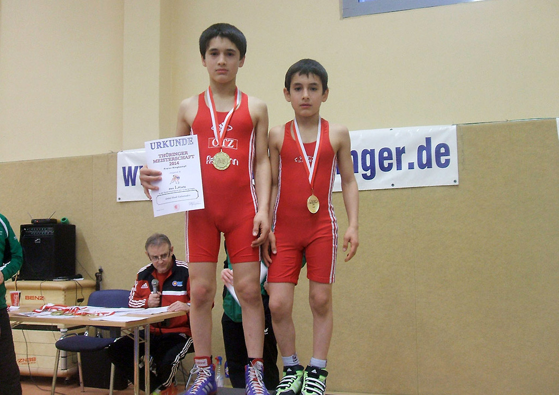 1. Platz in der Vereinswertung bei Thüringer Meisterschaften