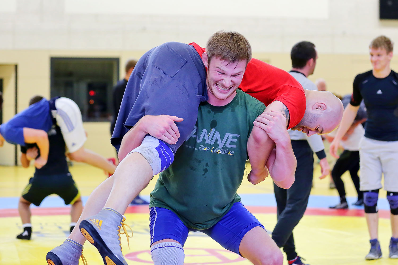 Martin Hopf und Sebastian Wendel beim Training