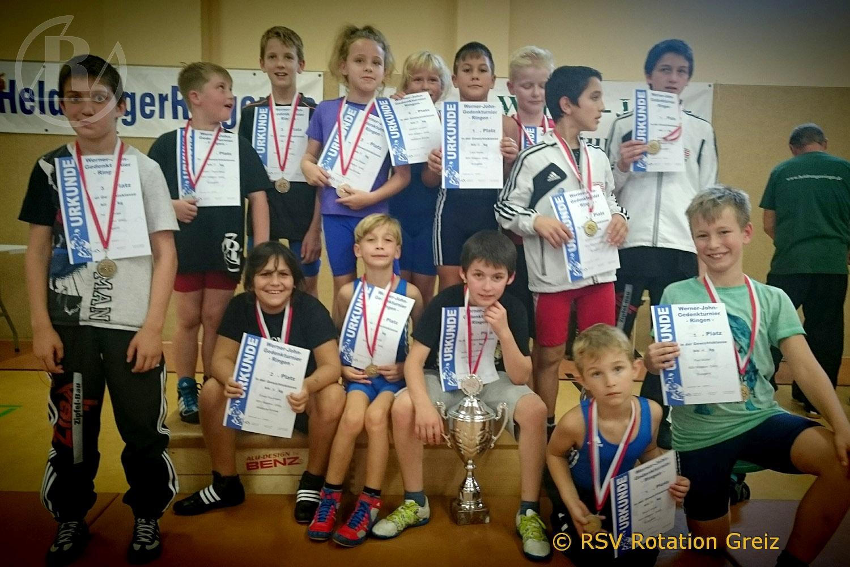 RSV Rotation: Alle Greizer Nachwuchsringer gewinnen beim Saisonstart eine Medaille