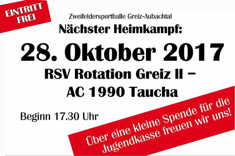 RSV Rotation: Zweite Greizer Ringermannschaft empfängt Taucha