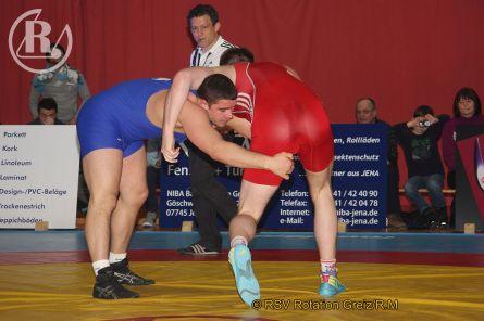 Länderkampf Thüringer Ringer gegen Budapester Juniorenauswahl im Sportforum Jena