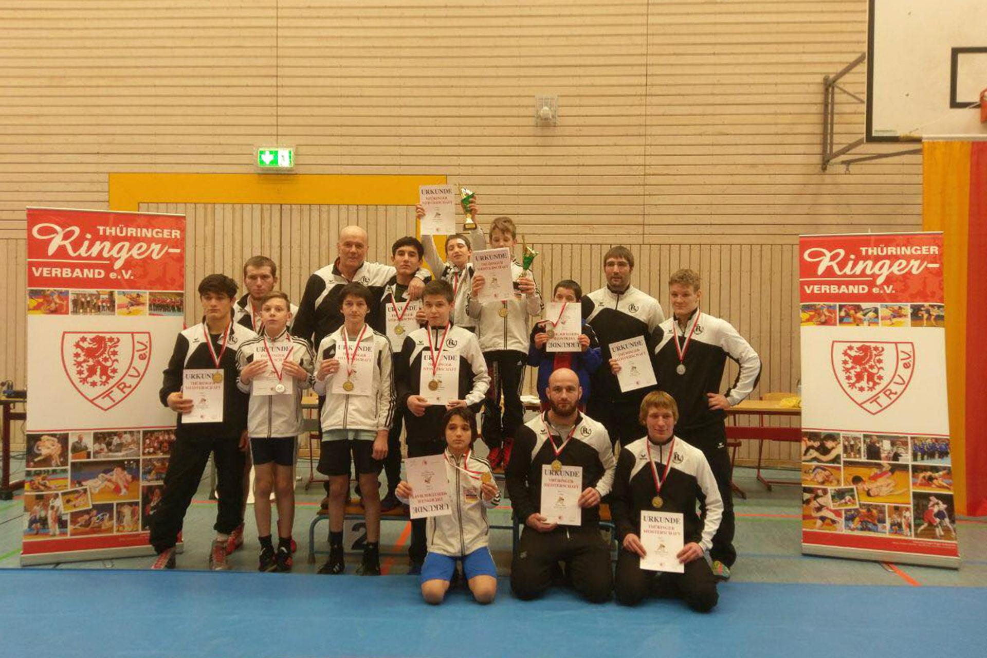 RSV Rotation: 15 Medaillen bei Thüringer Freistil-Meisterschaften