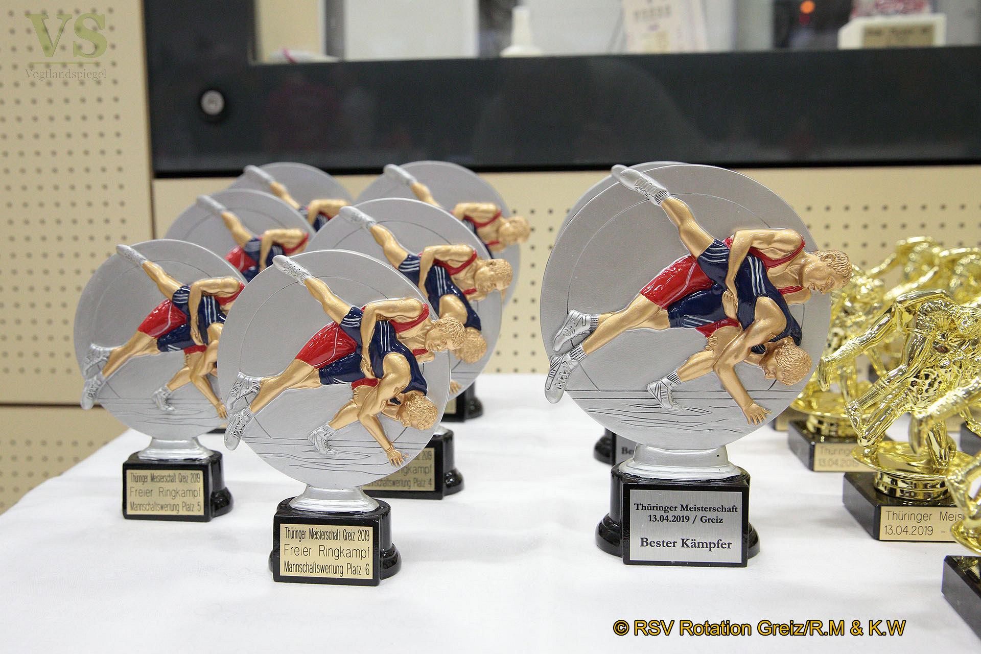 Zehnmal Gold und fünfmal Silber für die jüngsten Greizer Ringer des RSV Rotation
