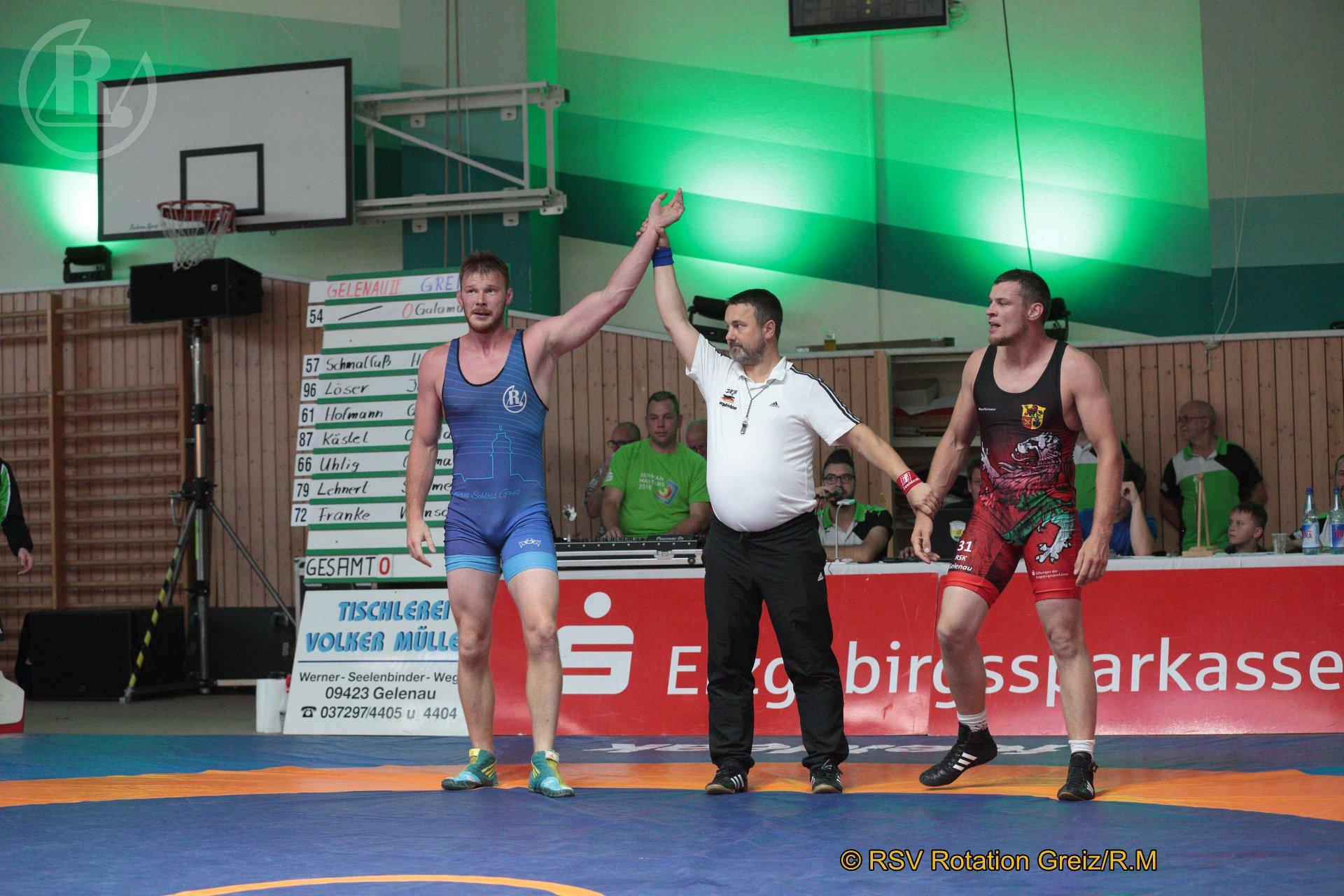 125 kg Freistil: Schaarschmidt, Maik, WKG Gelenau II/Chemnitz gegen Wendel, Sebastian, RSV Rotation Greiz II - 0:4/TÜ/0:15/04:51