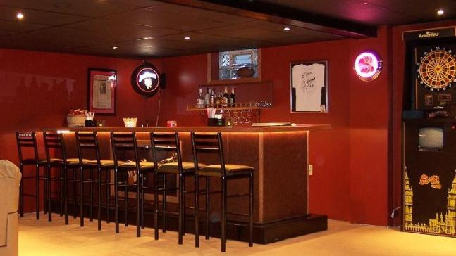 american leather swing chair brown lounge prep your man cave for super bowl xlvi | rsvp design services