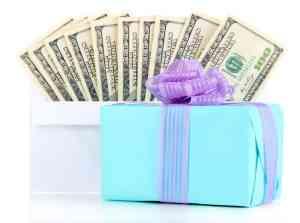 Wedding gifts + cash