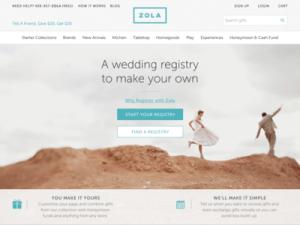 Zola wedding registry