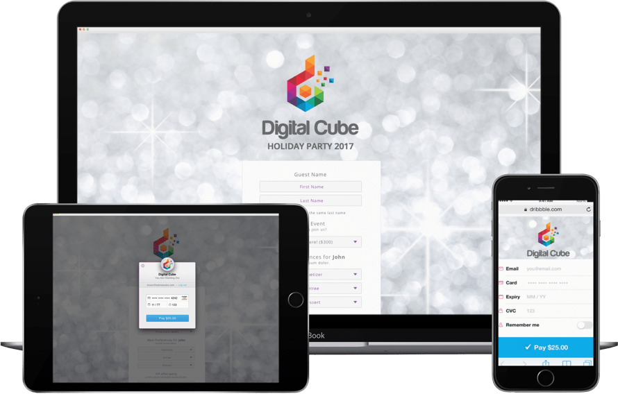 It's free to create a fully-customizable online event registration website.