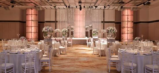 Singapore Marriott Tang Plaza Hotel Ballroom decorated for wedding