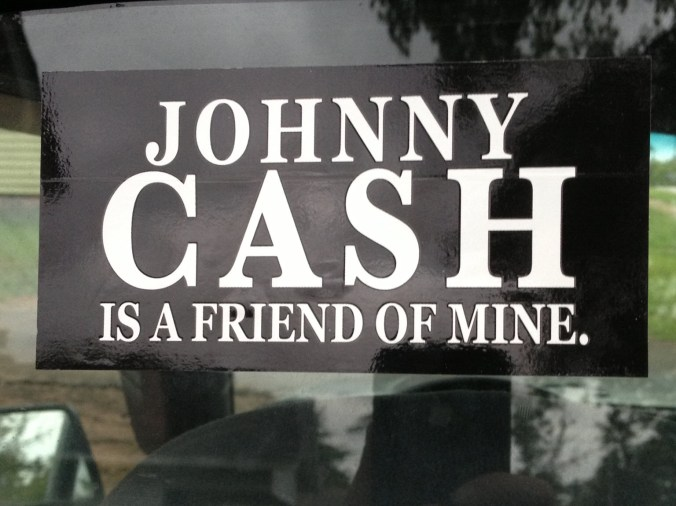 Johnny Cash Sticker (LaGrange, Georgia - June 2013)