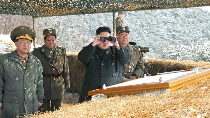 North Korean leader Kim Jong-Un (C) (Reuters / KCNA)
