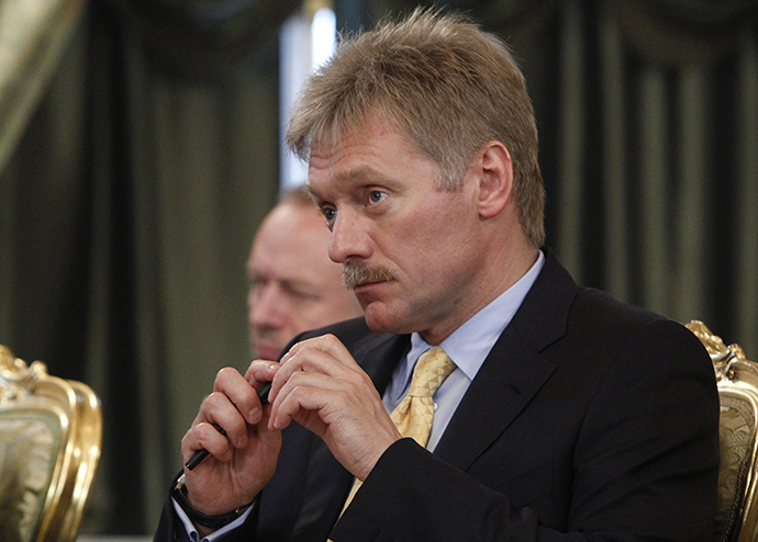 Russia's President Vladimir Putin's spokesman Dmitry Peskov attends a meeting with the Venezuelan delegation, led by President Nicolas Maduro, at the Kremlin in Moscow, July 2, 2013. (Reuters / Maxim Shemetov)