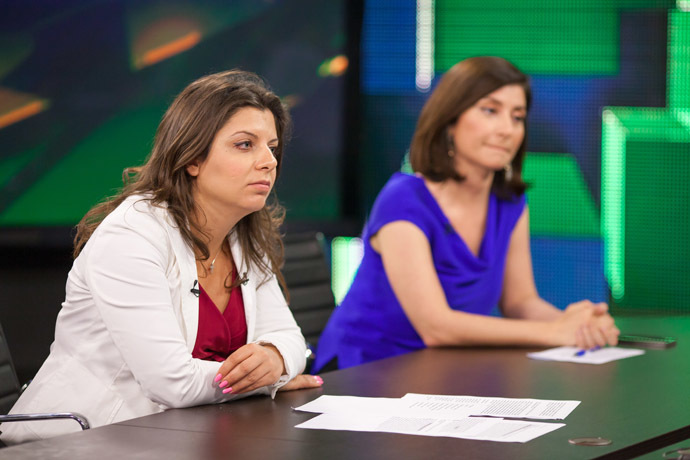 Margarita Simonyan (L) and Sophie Shevardnadze (RT photo / Semyon Khorunzhy)