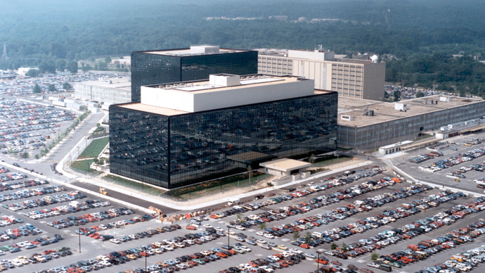 An undated aerial handout photo shows the National Security Agency (NSA) headquarters building in Fort Meade, Maryland (Reuters)