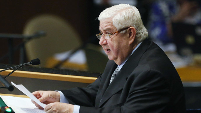Syrian Foreign Minister Walid Moallem.(AFP Photo / Timothy A. Clary)