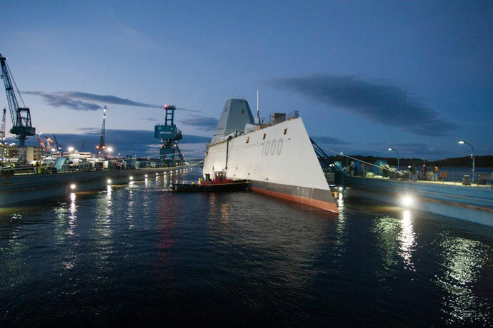 DDG 1000 (Image from facebook.com @General Dynamics Bath Iron Works)