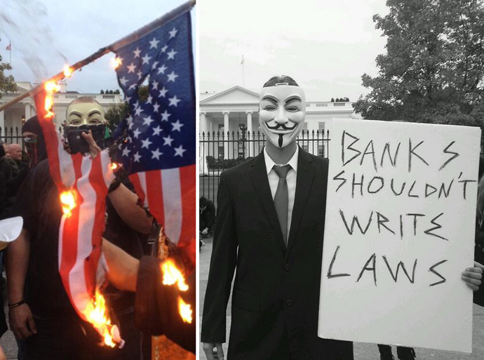 Images from twitter users@apblake @OccupyWallStNYC