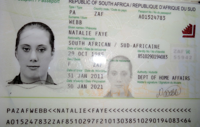 A photo of fake South African passport of Samantha Lewthwaite released by Kenyan police in December 2011. (AFP Photo)