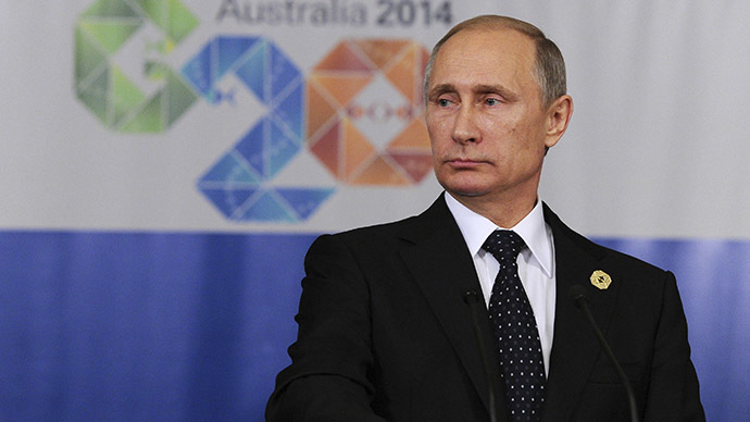 Russia's President Vladimir Putin attends a news conference at the end of the G20 summit in Brisbane November 16, 2014. (Reuters/Mikhail Klimentyev)