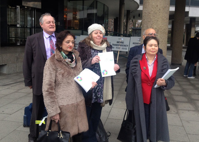 NHS whistleblowers take their protest to Westminster