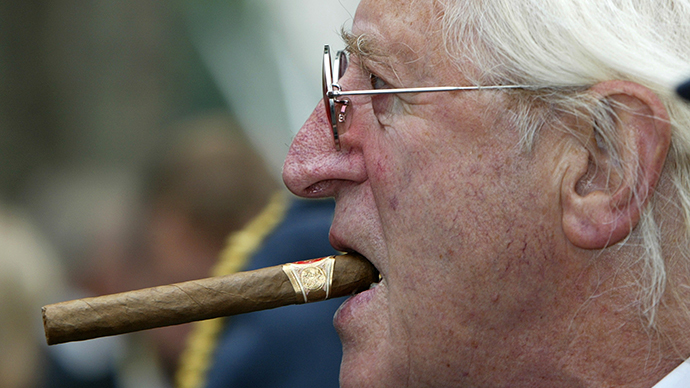 File photograph shows disgraced British entertainer Jimmy Savile (Reuters / Paul Hackett)