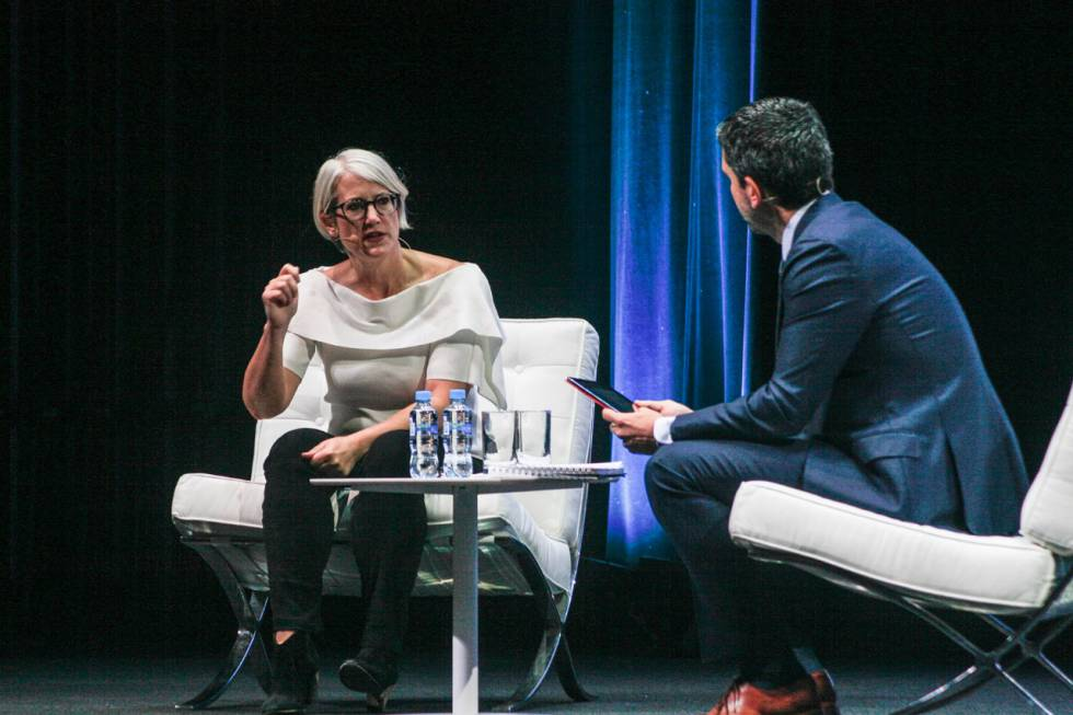 Kelly Peters, CEO y cofundadora de BEworks, durante su intervención en el foro.