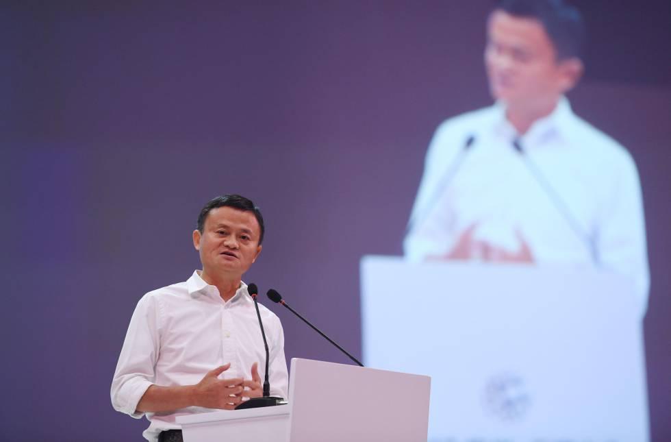 El fundador de Alibaba, Jack Ma, durante una conferencia.