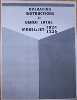 Jet 1236 Lathe Manual