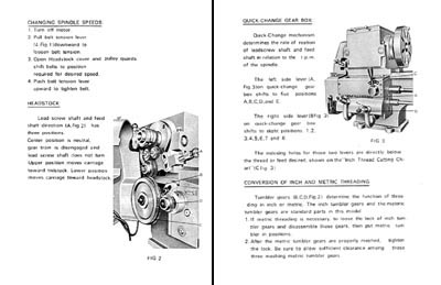 Operators Manual for Jet 1024 & 1236 metal lathe