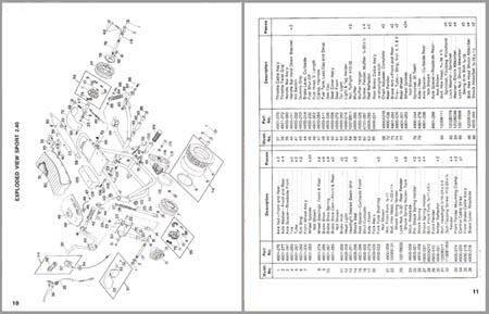 Attex Coleman 2.40 mini bike Parts Manual